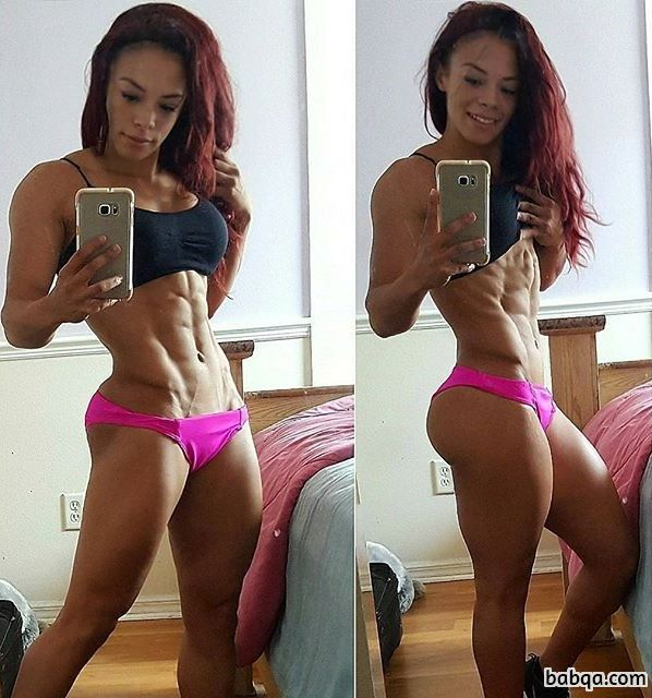 beautiful chick with strong body and toned arms photo from g+