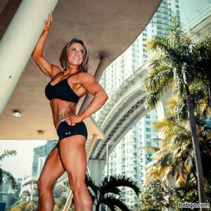 hottest woman with muscular body and muscle legs image from insta