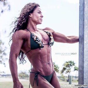 perfect woman with muscle body and toned biceps image from reddit