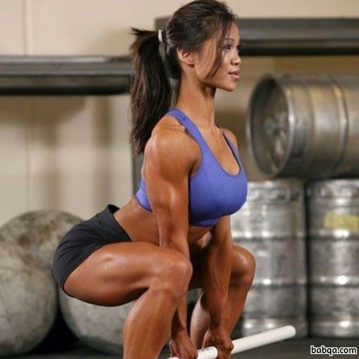 sexy woman with muscular body and toned arms picture from facebook
