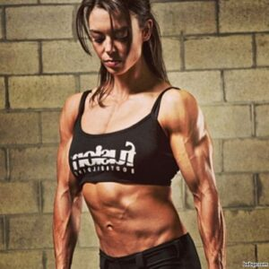awesome female with muscular body and toned arms pic from facebook