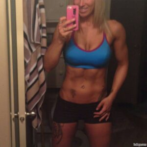 hottest girl with muscular body and muscle arms pic from linkedin