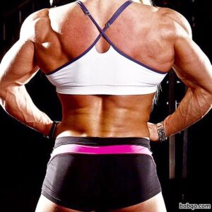 hot woman with strong body and toned biceps photo from g+