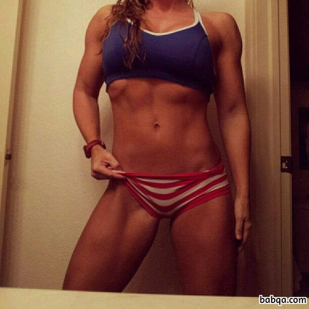 hottest female bodybuilder with muscular body and muscle biceps repost from reddit