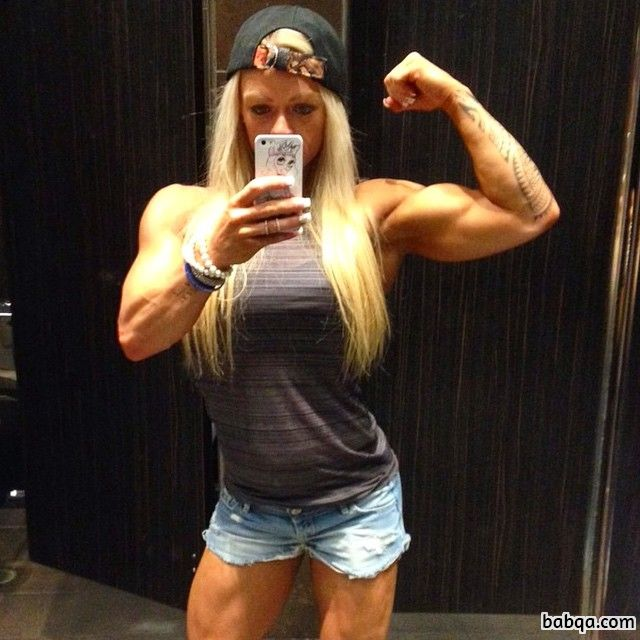 awesome female bodybuilder with muscular body and toned biceps picture from flickr