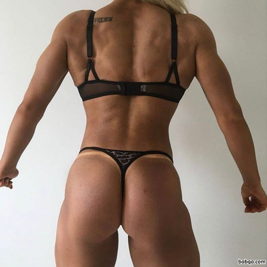 beautiful female bodybuilder with fitness body and toned ass photo from reddit