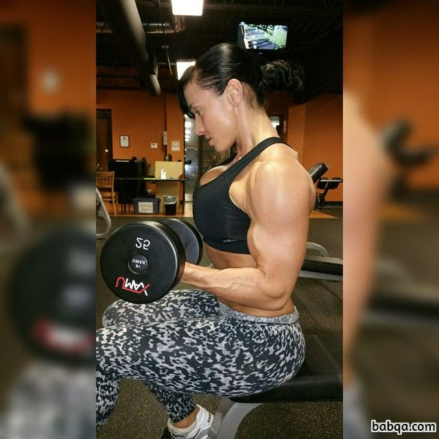 awesome woman with fitness body and toned arms pic from facebook