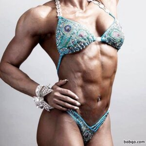 hottest lady with strong body and muscle biceps post from instagram