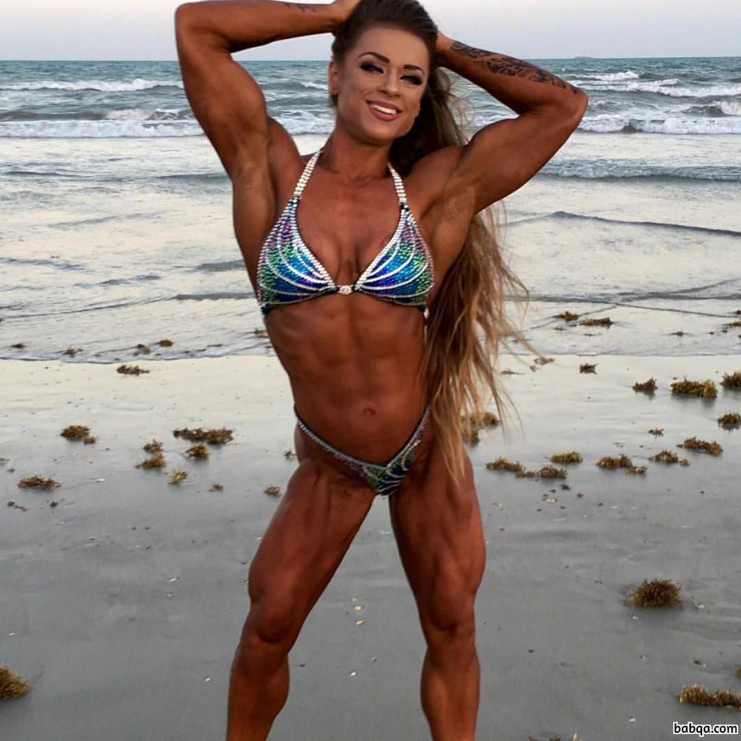 spicy girl with strong body and muscle arms photo from insta
