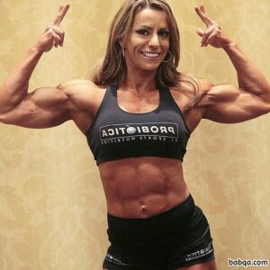 perfect girl with strong body and muscle arms picture from facebook