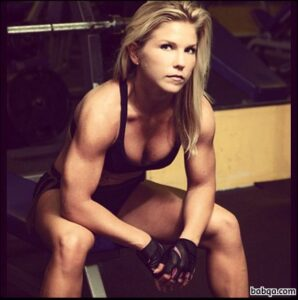 cute chick with fitness body and muscle biceps photo from facebook