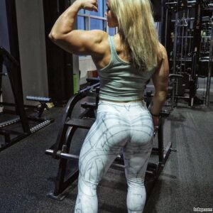 sexy woman with muscle body and muscle arms repost from flickr
