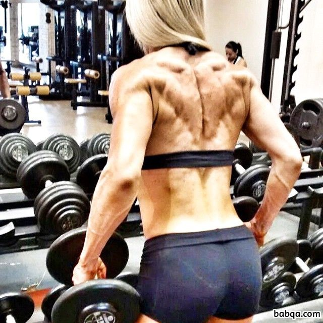 awesome female with muscular body and muscle bottom picture from g+