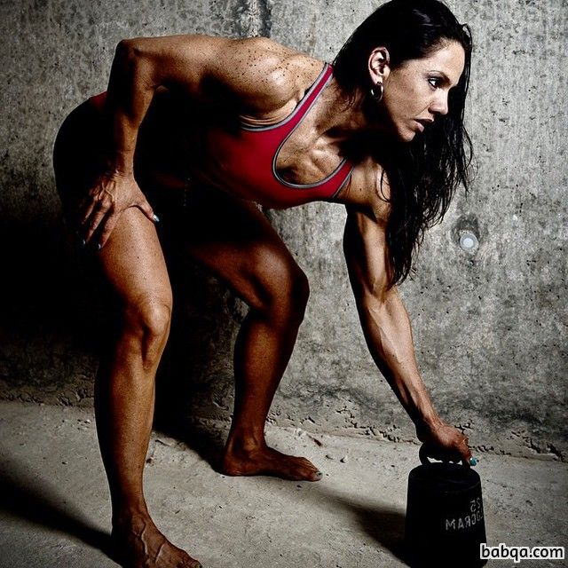 perfect lady with muscle body and toned biceps photo from g+