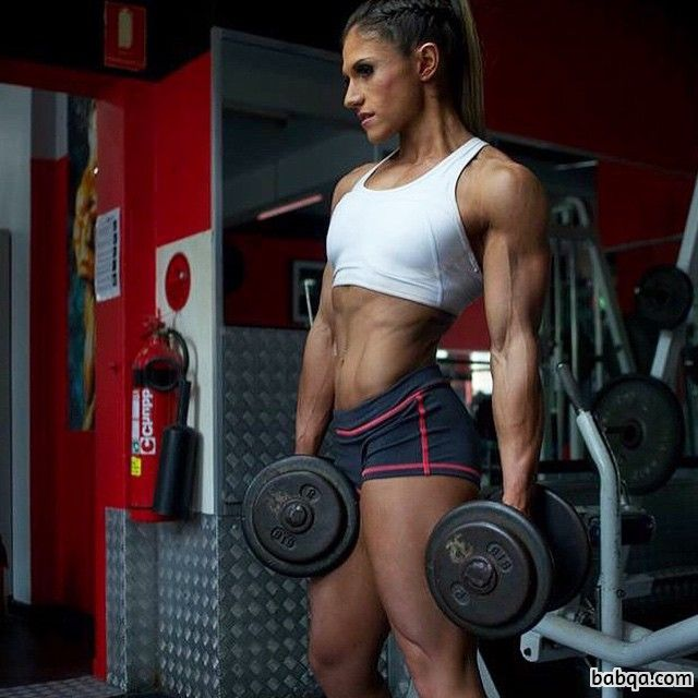 cute female bodybuilder with muscle body and muscle booty picture from facebook