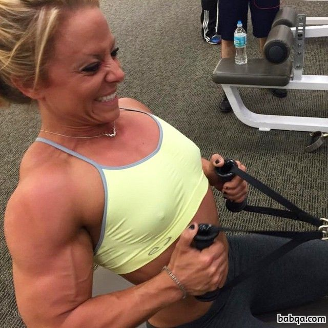 hot chick with muscular body and muscle arms picture from tumblr