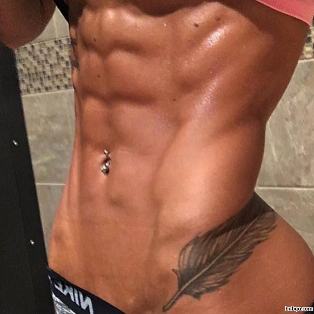 awesome female bodybuilder with strong body and toned arms picture from linkedin