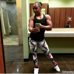 sexy female bodybuilder with muscle body and toned biceps photo from g+