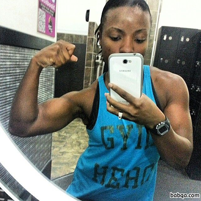 perfect female bodybuilder with fitness body and toned bottom image from g+
