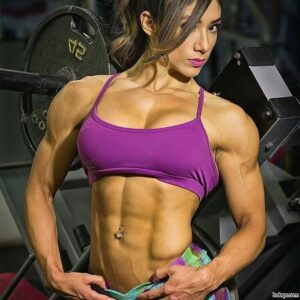 perfect chick with strong body and muscle arms picture from linkedin
