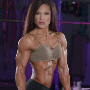 beautiful lady with fitness body and muscle arms repost from flickr
