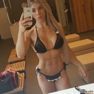 perfect female bodybuilder with muscular body and toned legs image from linkedin