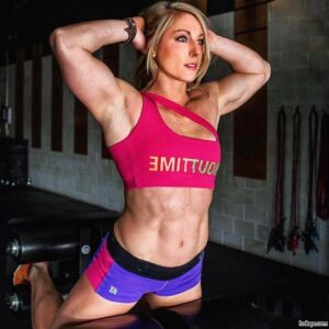 perfect babe with muscle body and muscle arms image from facebook