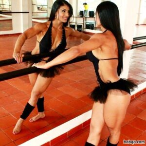 awesome lady with muscle body and muscle arms picture from tumblr