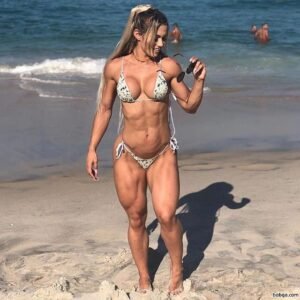 hottest female with muscular body and toned arms image from instagram