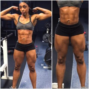 hottest female bodybuilder with fitness body and muscle legs pic from flickr