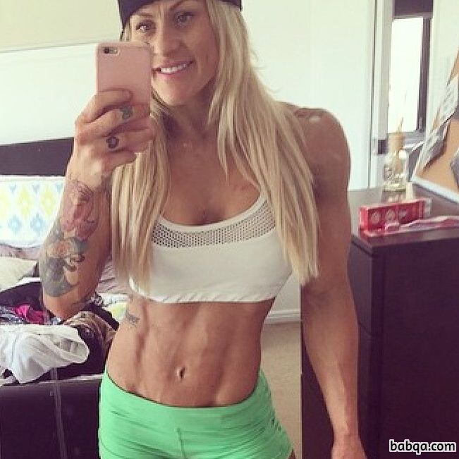 beautiful female bodybuilder with muscle body and muscle bottom repost from flickr