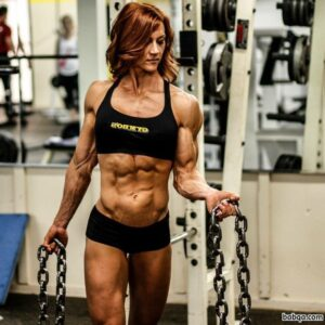 perfect female with strong body and muscle biceps post from reddit