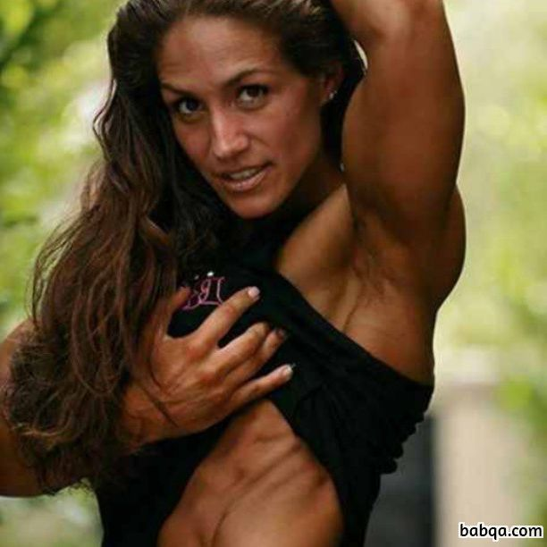 perfect lady with muscle body and muscle bottom pic from reddit