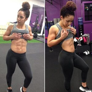 sexy chick with fitness body and muscle bottom picture from reddit