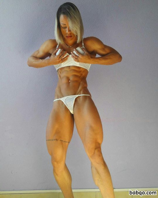 cute girl with muscular body and toned legs post from linkedin