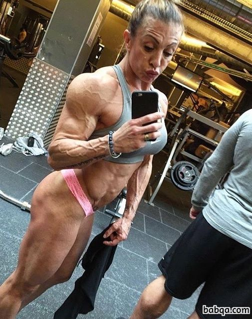 awesome female with muscular body and muscle booty pic from linkedin