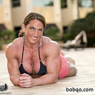 beautiful female bodybuilder with muscle body and muscle legs post from tumblr