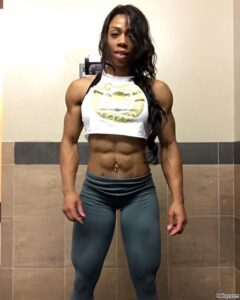 spicy female bodybuilder with muscular body and toned arms pic from g+