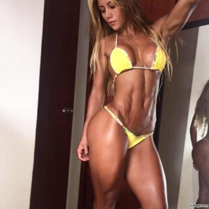 spicy woman with muscular body and muscle booty image from instagram