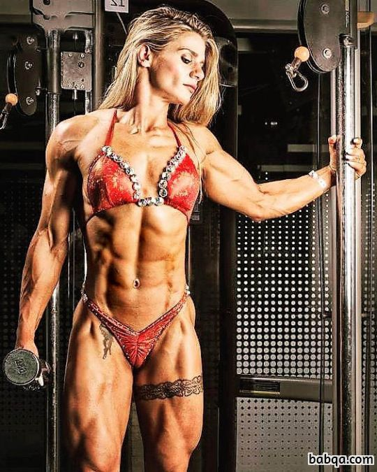 awesome woman with muscle body and toned bottom post from linkedin