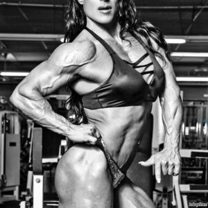 cute chick with muscular body and muscle arms photo from g+