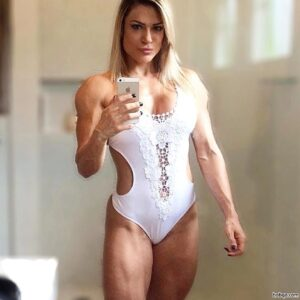 cute female bodybuilder with fitness body and toned legs image from facebook