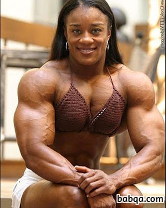 cute lady with muscular body and toned biceps repost from g+