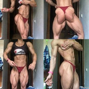 sexy female bodybuilder with muscle body and muscle arms pic from instagram