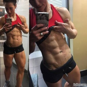beautiful chick with fitness body and muscle ass post from linkedin