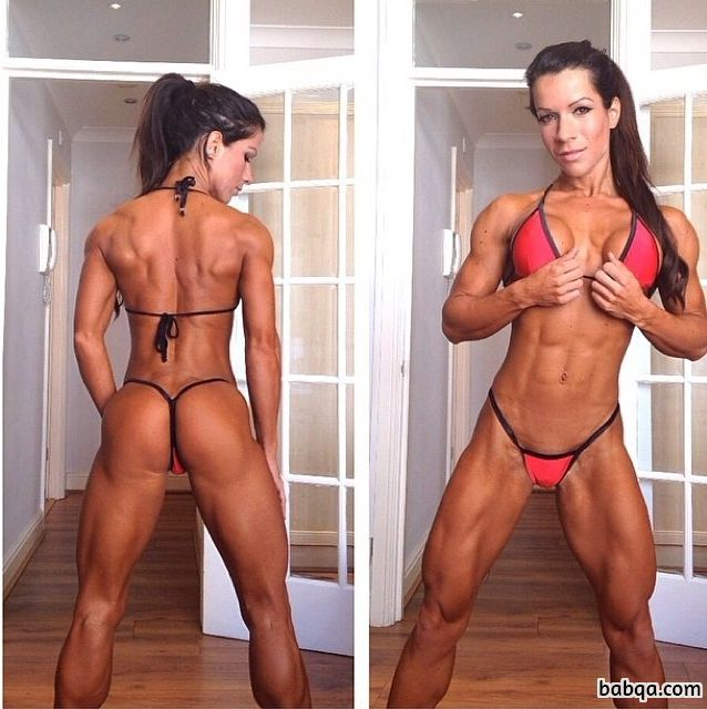sexy woman with strong body and toned biceps image from instagram