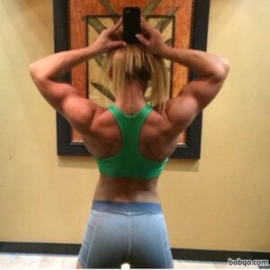 hot female bodybuilder with strong body and toned ass pic from linkedin