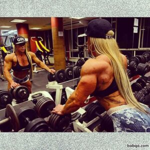 sexy female bodybuilder with strong body and toned arms image from g+