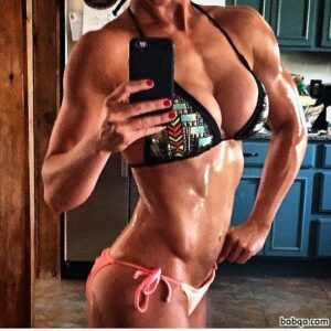 hot woman with muscle body and muscle legs post from facebook
