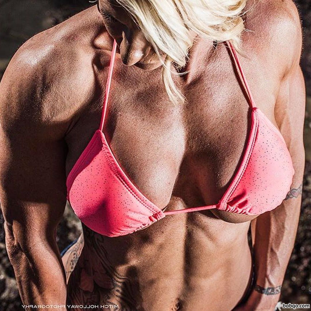 sexy woman with muscular body and toned arms photo from reddit